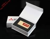UHV 002 - Hộp USB Trắng Nắp Bật