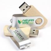 UGV 022 - USB Gỗ Xoay