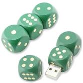 UGV 021 - USB Gỗ Xúc Sắc